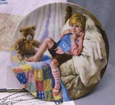 """""""Diddle Diddle Dumpling"""" collector plate, 6th in Mother Goose Series, 1984, COA"""