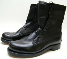MENS VTG NEW 1968  ARMORTRED Military BLK LEATHER LACE UP MOTORCYCLE BOOTS 10 E