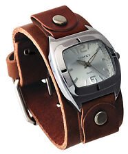 Nemesis BGB090S Women's Retro Collection Brown Junior Leather Cuff Band Watch