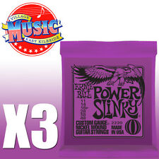 3 Packs Ernie Ball Power Slinky Electric Guitar Strings 11-48