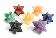 REIKI ENERGY CHARGED COMPLETE MERKABA STAR CRYSTAL CHAKRA SET OF 7 HEALING STONE