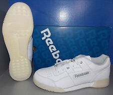 MENS REEBOK WORKOUT PLUS IN COLORS WHITE / PURE SILVER SIZE 11