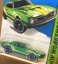 HW WorkShop '68 COPO CAMARO SS green flames 1968 Super Sport Hot Wheels 2015