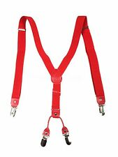 New Mens Womens Wedding  Clip-on Suspenders Elastic Y-Shape Adjustable Braces