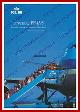 ANNUAL REPORT - KLM ROYAL DUTCH AIRLINES 1994-1995 - DUTCH