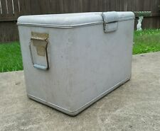 Vintage Aluminum Ice Chest Cooler Antique Surf Beach Camping Boat 1950s Hiking