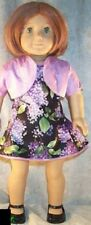 """Doll Clothes fit American Girl 18"""" inch Dress Shrug Lilacs Lavender Black 2pc"""