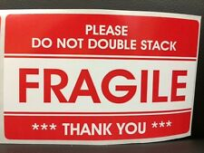 500 3.2x5.2 FRAGILE Stickers PLEASE DO NOT DOUBLE STACK Stickers FRAGILE Ship