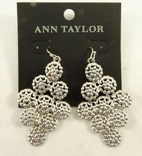 Impressive New Silver Dangle Earrings by Ann Taylor NWT #AT2