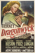 DRAGONWYCK Movie POSTER 27x40 Gene Tierney Walter Huston Vincent Price Glenn