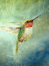 "ORIGINALE A4 ACQUARELLO / ""HUMMINGBIRD""......."