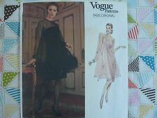 Vogue 2388 Paris Original GIVENCHY formal dress Sewing Pattern size 6-8-10