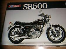 "Yamaha  SR 500  - brochure -prospekt  "" ITA"""