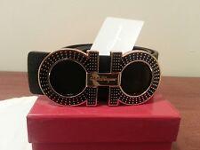 Black Ferragamo belt size 36