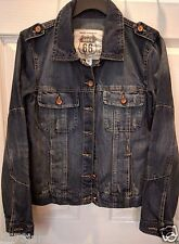 Route 66 Women Vintage/Distressed Inspired Denim Jean Jacket 100% Cotton sz XS