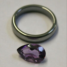 NATURAL LOOSE AMETHYST GEMSTONE 13X8MM 3CT FACETED PEAR  PENDANT RING GEM AM59