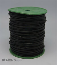 1Roll 2mm Black Hollow Rubber Tubing Cord for cover wire Findings 140~150m/roll
