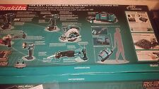 Makita XT601 Cordless 18-volt LXT Lithium-Ion Combo Tool Kit Set 6 Tools NEW 18V