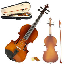 New Beginner 4-5 years old 1/8 Acoustic Violin + Case + Bow + Rosin Natural