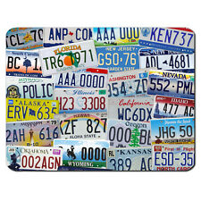 USA Number Licence Plates American Retro Cars PC Computer Mousemat Mouse Mat Pad