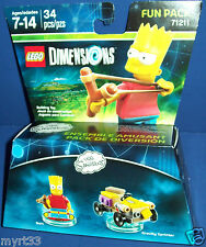 New Lego Dimensions Fun Pack 71221The Simpsons BART and GRAVITY SPINNER