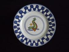 "8"" Sberna Deruta Italy Sea Monster Dragon Plate Hand Painted EXC Nautical"
