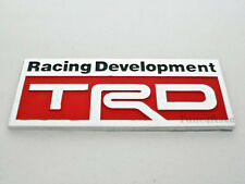 Toyota TRD Aluminum RED emblem badge StickerJDM Supra Celica MR2 4RUNNER COROLLA