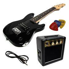 E-guitare pour enfants Mini 78cm-noir + Amplificateur ma05 + 3pik + style 2