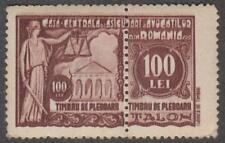 Romania Barristers Insurance Revenue Bft #9 mint 100L 2-part stamp 1931 cv $85