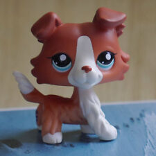 """LPS COLLECTION LITTLEST PET SHOPMaroon Brown Collie dog  RARE TOY 2"""""""