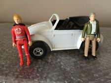 Vintage Mego Greatest American Hero Ralph Hinkley & Bill Maxwell 1981 With Buggy