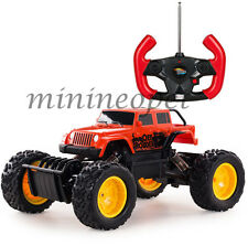 RASTAR 59100 R/C REMOTE CONTROL ROCK CRAWLER OFF ROAD MONSTER TRUCK 1/18 RED