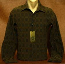 SALE!! Brand NEW Men's VERSACE Long Sleeve Slim Fit Brown SHIRT Size S