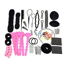 20 Types Hair Styling Clip Hairpin Hair Comb Band Twist Tool Bun Maker EW