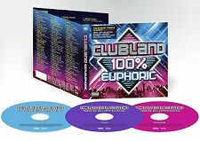 CLUBLAND 100% EUPHORIC 3 CD VARIOUS ARTISTS - NEW RELEASE NOVEMBER 2016