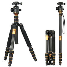 Q666C Pro Carbon Fiber Tripod for SLR Camera Ball Head Monopod Changeable Travel