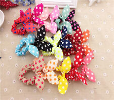 Pretty 10pcs Girls & Kids Rabbit Ear Hair Band Cute Head Wrap Dot Headband