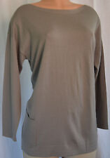 BALENCIAG KNITS WOOL/SILK MOSS COLOR FRONT PACKETS TOP SIZE  44