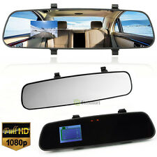 HD 1080P 2.7'' Dual Lens Car DVR Rear View Mirror Dash Cam Video Camera Recorder