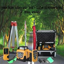 500m Range Green Self-leveling Rotary Laser Level&1.63 aluminum tripod &5m staff