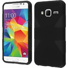 Black 2Layer Slim Case For Samsung Galaxy Prevail LTE Core S820L
