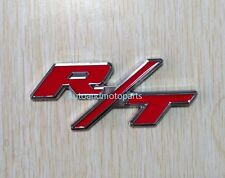 RT R/T Logo Dodge Challenger Charger Emblem Badge 3D Metal Decal Sticker Red New