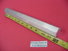 "2 Pieces HEX 1"" ALUMINUM 6061 Hex BAR 12"" long T6511 1.00"" SOLID LATHE STOCK"