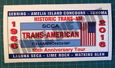 HISTORIC TRANS AM 50TH ANNIVERSARY TOUR DECAL STICKER - SCCA - SVRA - LIME ROCK