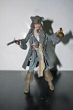 """Pirates of the Caribbean Jack Sparrow Smiling 7"""" Figure Black Pearl Series1 NECA"""
