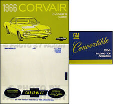 1966 Chevy Corvair Convertible Owners Manual Set Car Guide Top Book Corsa Monza