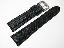 20mm Hadley-Roma MS841 Mens Black Textured Kevlar Watch Band Strap