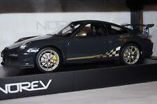 Porsche 911 GT3 RS 2010 dunkelgrau-gold 1:18 Norev neu & OVP 187569