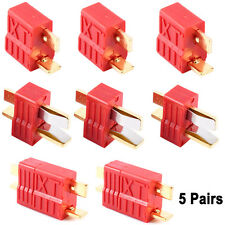 5 Pairs Deans T-Style Connector Plug Female & Male For RC LiPo Battery ESC Motor