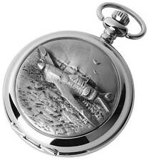Woodford Chrome Plated Hunter Pocket Watch. Mechanical Movement. ref 1892/S